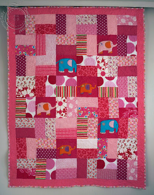 lapitekk lastele, pink patchwork quilt, girls bedding