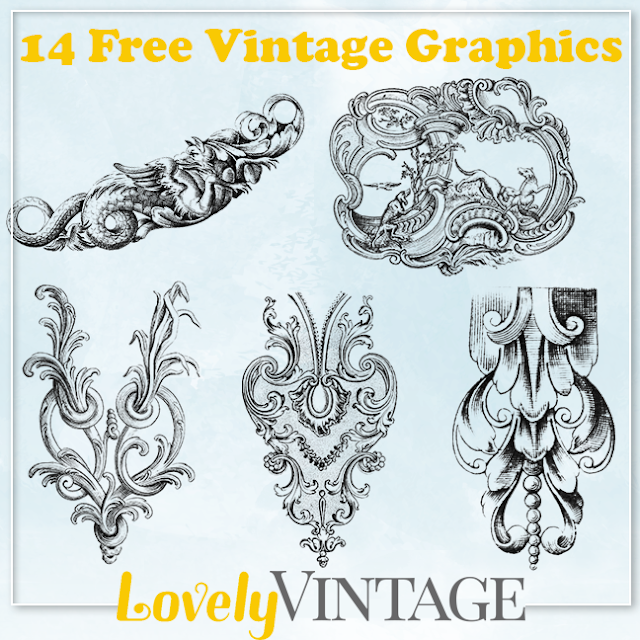 14 Free Mixed Vintage Graphics