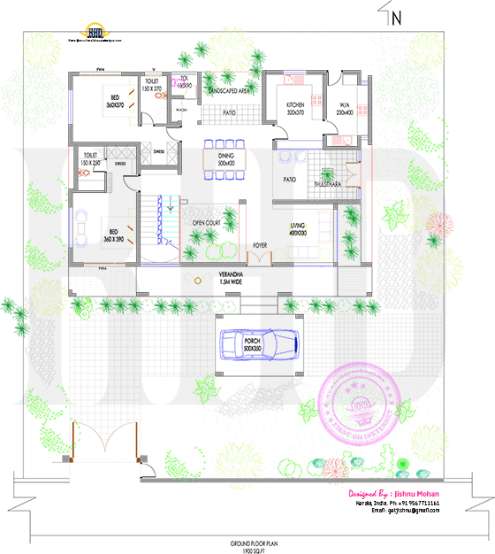 Cool roof floor plan