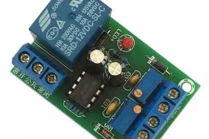 Skema charger aki terbaru otomatis dengan relay pemutus