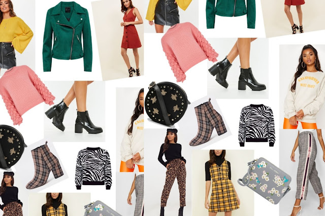 Patterned clothing trends, leopard print trousers, checked trousers, pinafore dresses