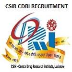 CSIR CDRI Scientists Recruitment