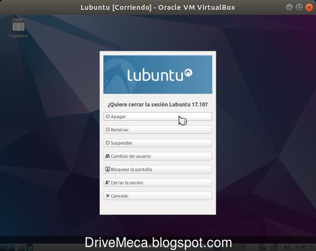 Siempre apaga correctamente tu equipo Lubuntu