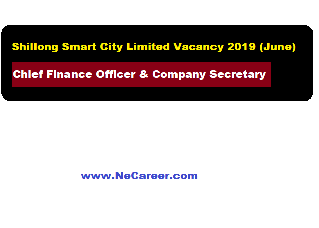 Shillong Smart City Limited Jobs 2019 (June)