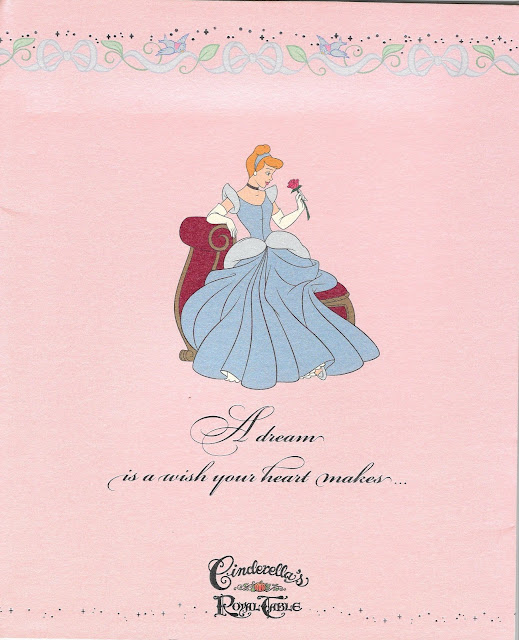 Cinderella's Royal Table Photo Booklet Cover