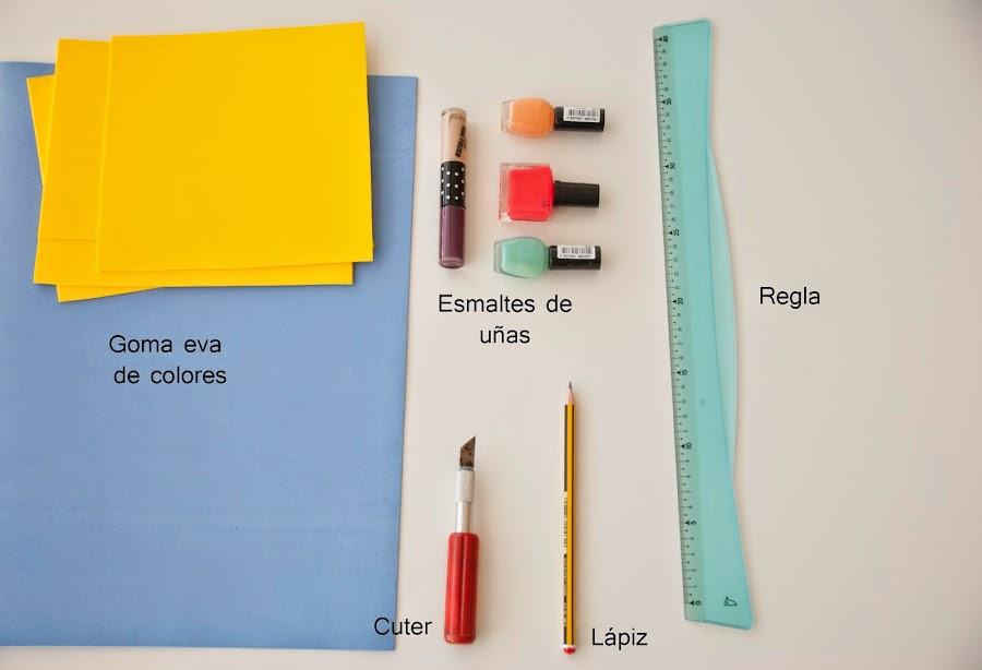 foto materiales que necesitamos para hacer posavasos