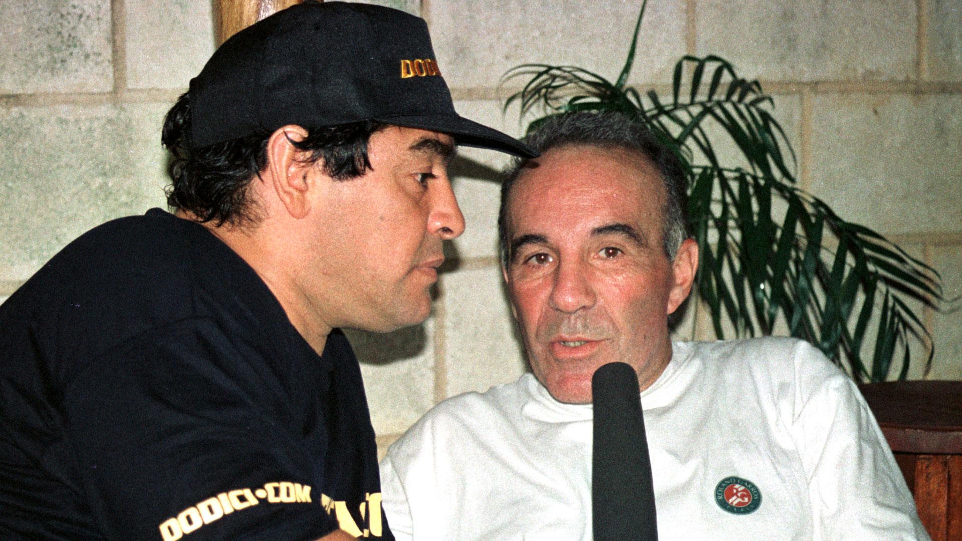 Alfredo Cahe con Diego MAradona
