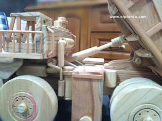 Wooden Miniature Komatsu 830E-AC Dump Truck