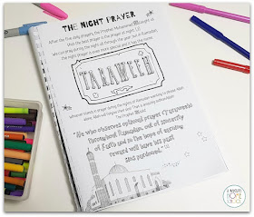 Tarawih page from the Ramadan Journal for kids