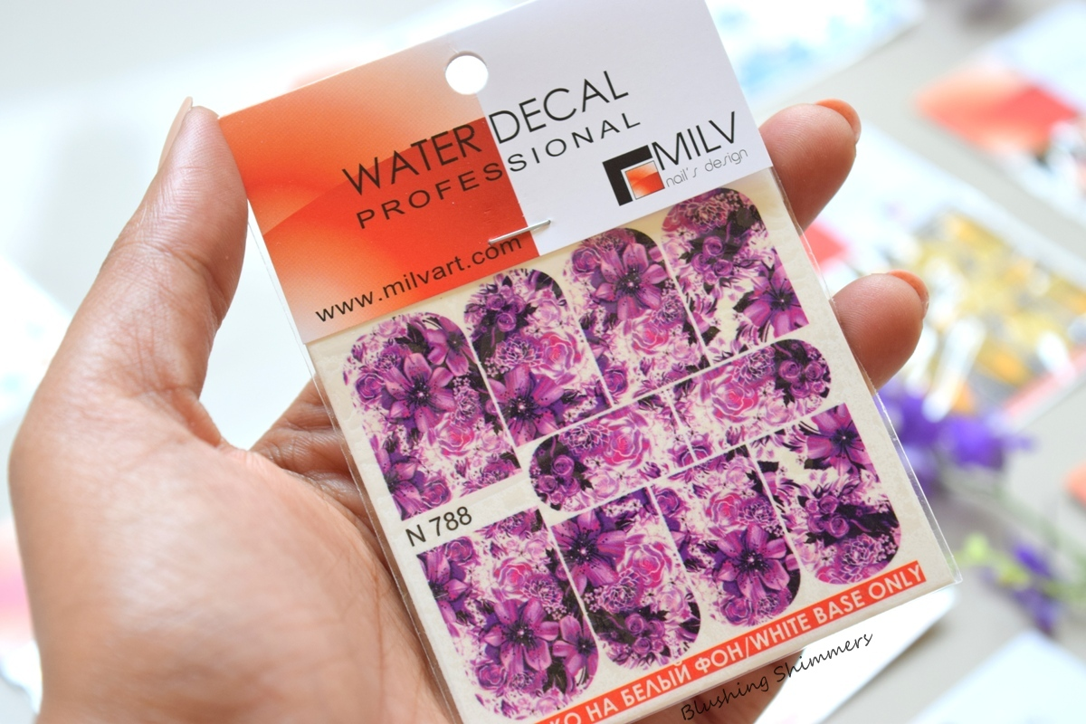 MilvArt Nail Water Decals