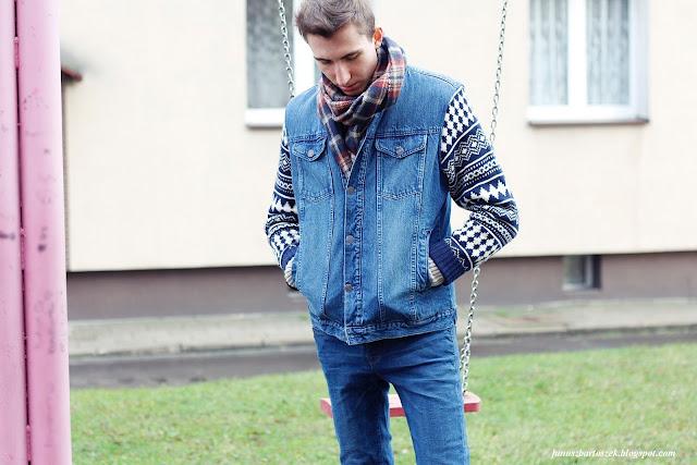 zimowa kurtka jeansowa