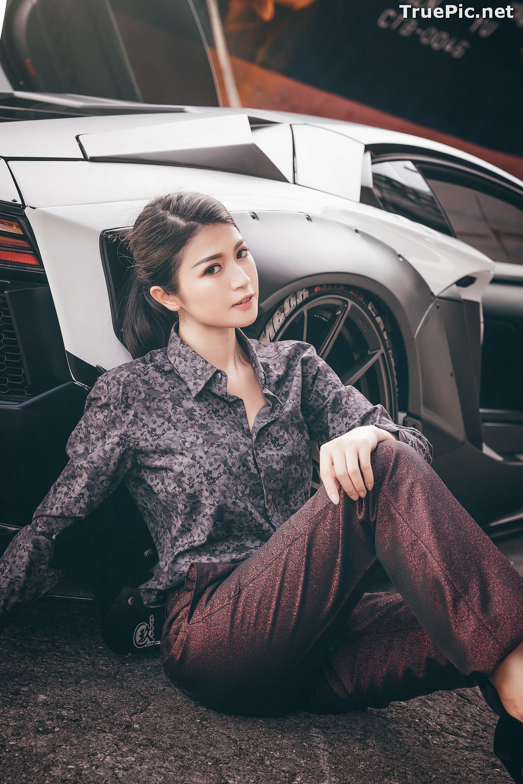 Image Taiwanese Model - 珈伊Femi - Sexy Beautiful Girl and Supercars - TruePic.net - Picture-7