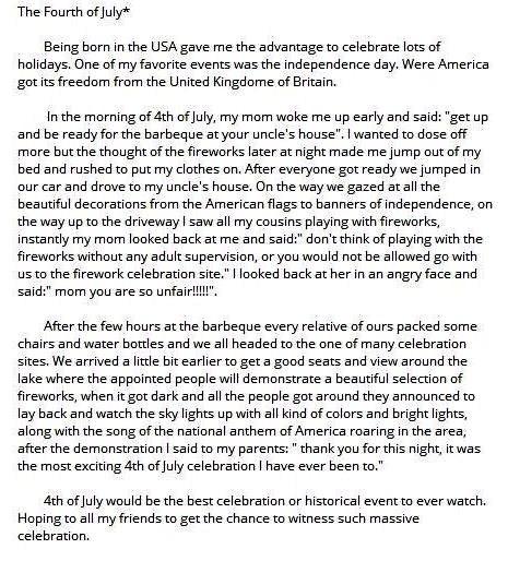 essay report national day celebration