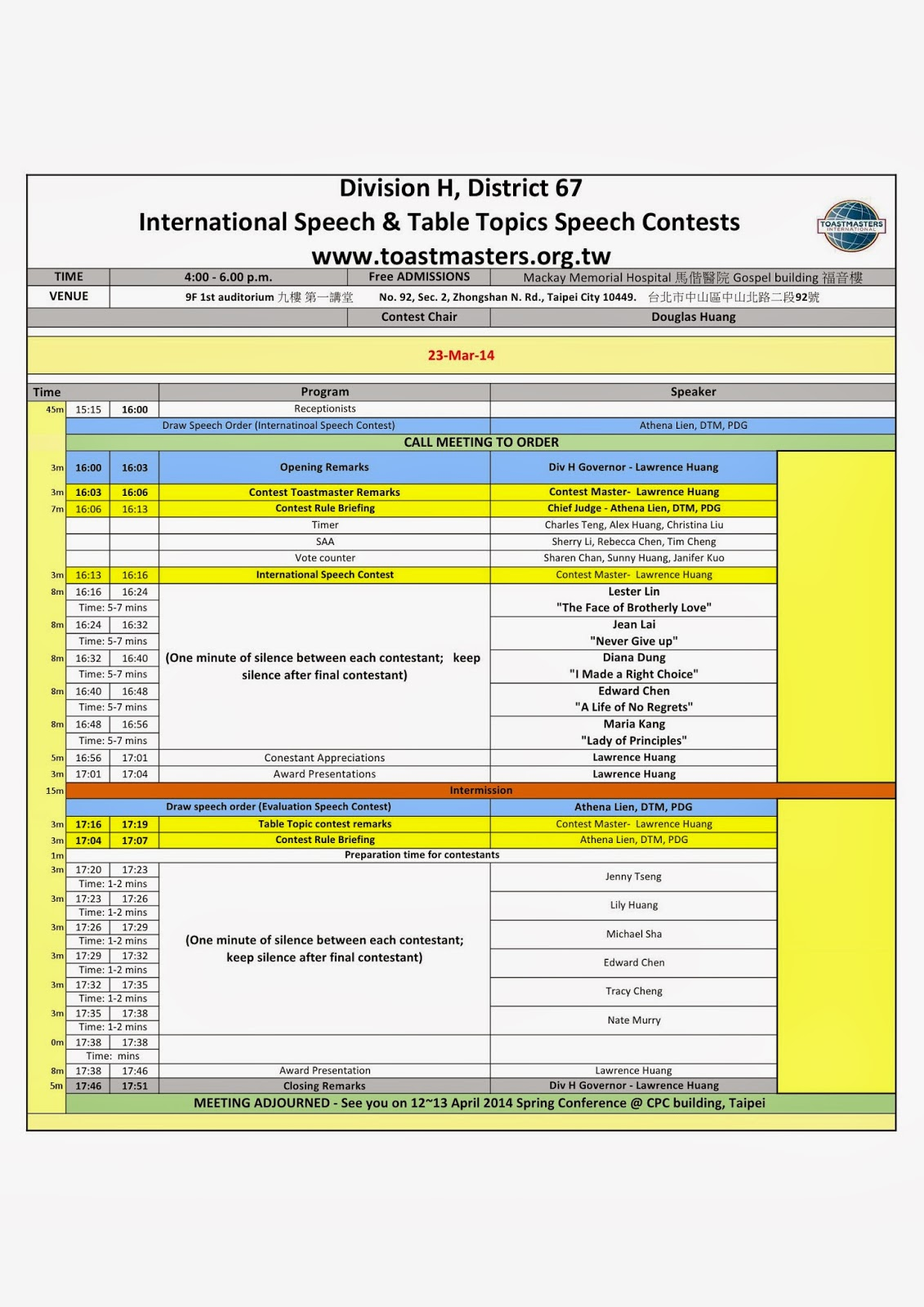 Toastmasters Meeting Agenda Template agenda template doc monthly – One on One Meeting Agenda Template