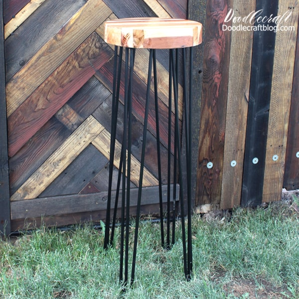 The legs could easily be unscrewed and put together on site if the completed table doesn't fit in the vehicle. Perfect for garden or outdoor weddings, giving it that gorgeous rustic feel.