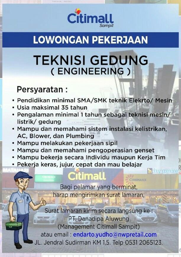 Lowongan Kerja Citimall Sampit 2019 Lowongan Kerja Kalimantan Tengah