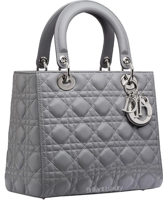 ♦Dior montaigne grey cannage stitching Lady Dior bag #dior #bags #ladydior #brilliantluxury