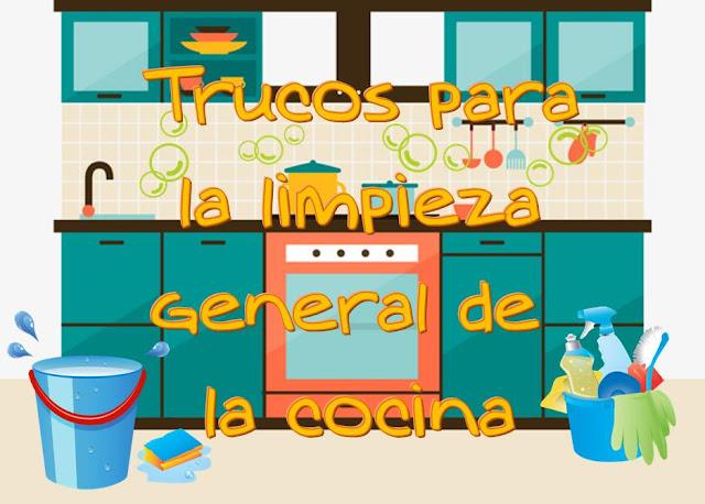Trucos para la limpieza general de la cocina