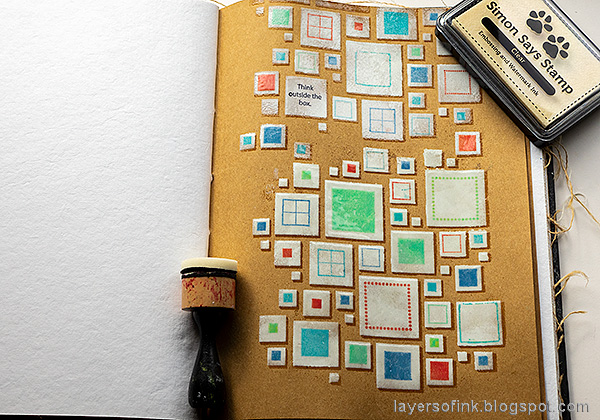 Layers of ink - Shadow Stenciling and Stamping Tutorial by Anna-Karin Evaldsson. Shadow emboss.