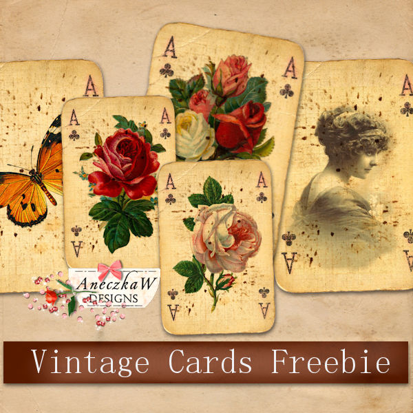 Fall Clusters, Ribbon Flowers ,2019 Calendars and Vintage Cards Freebies !
