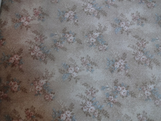 flower patterned carpet