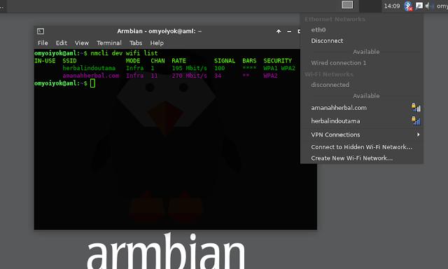 Wifi Bawaan HG680p di Armbian