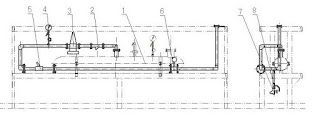 Diagram of wet extruder pipe system