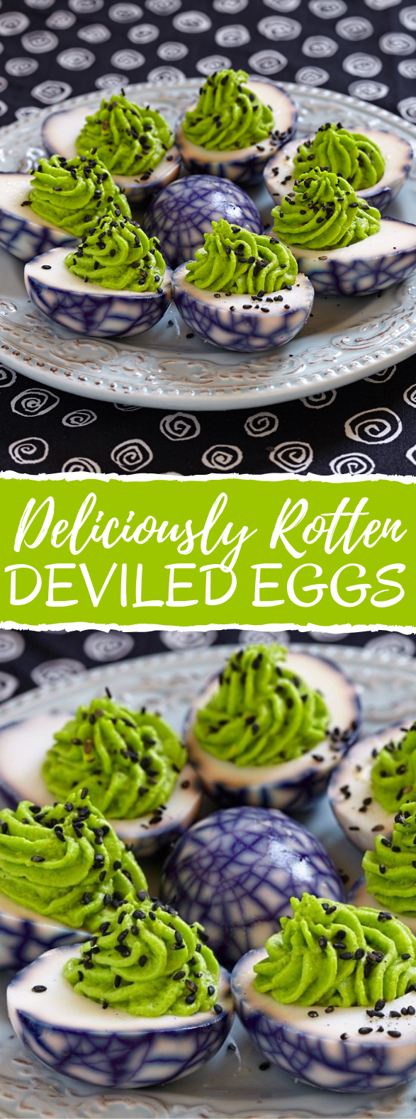 Deliciously Rotten Deviled Eggs #appetizers #partyrecipe