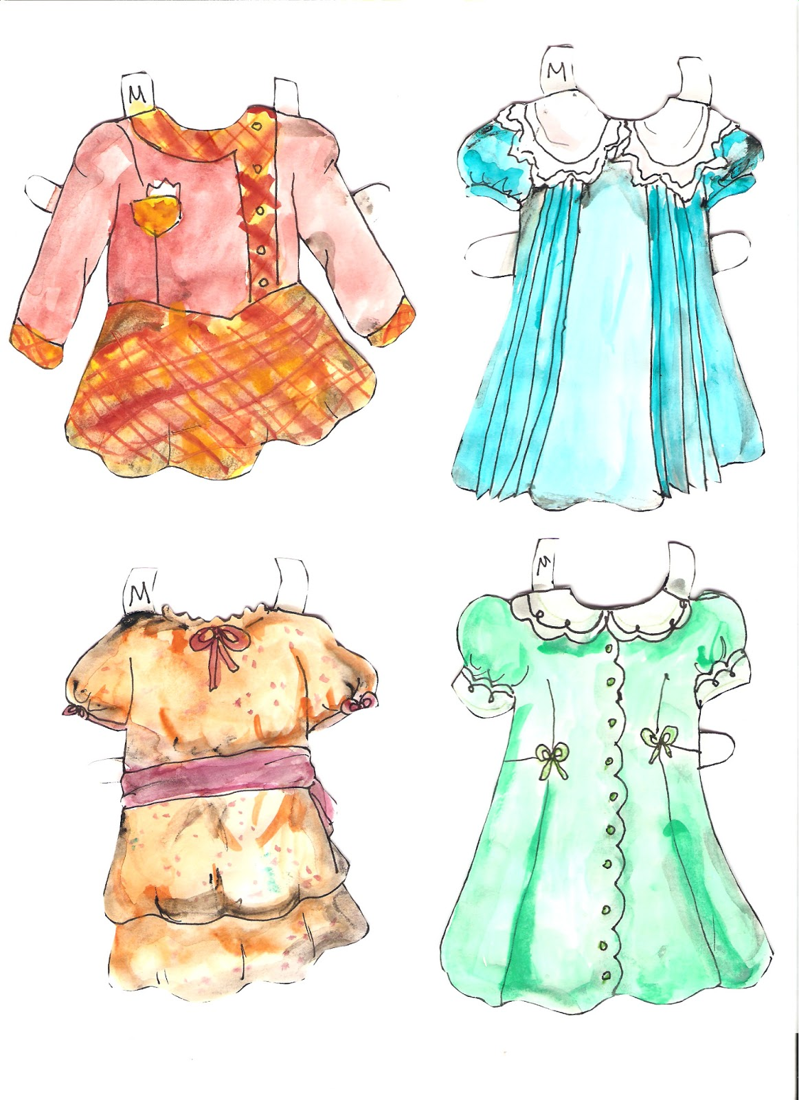 Miss Missy Paper Dolls: Dionne Quints and handmade clothes
