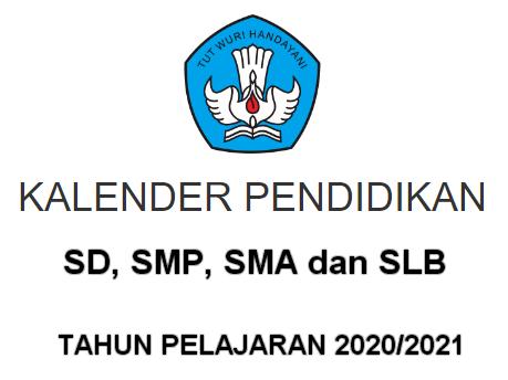 Kalender Pendidikan (Kaldik) 34 Provinsi Tahun Pelajaran 2020/2021
