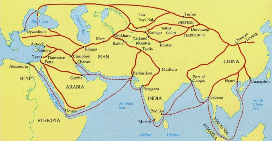 Difference between Silk Trade Routes(Silk Road) and Trans-Saharan Trade?