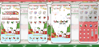 Tema Merry Christmas Hello Kitty untuk Vivo 1