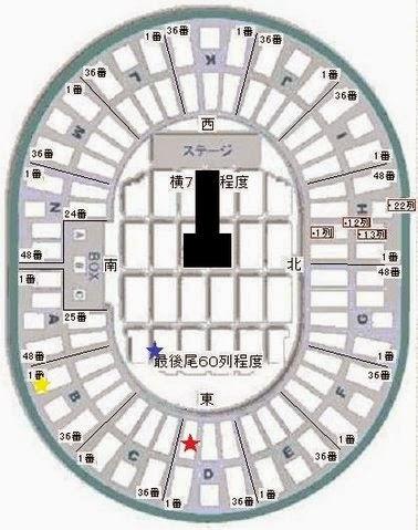 D&E ウネ婚(ウネコン) 大阪城ホール公演のアリーナ座席表・セットリスト・レポ感想(チョキワ追加?)