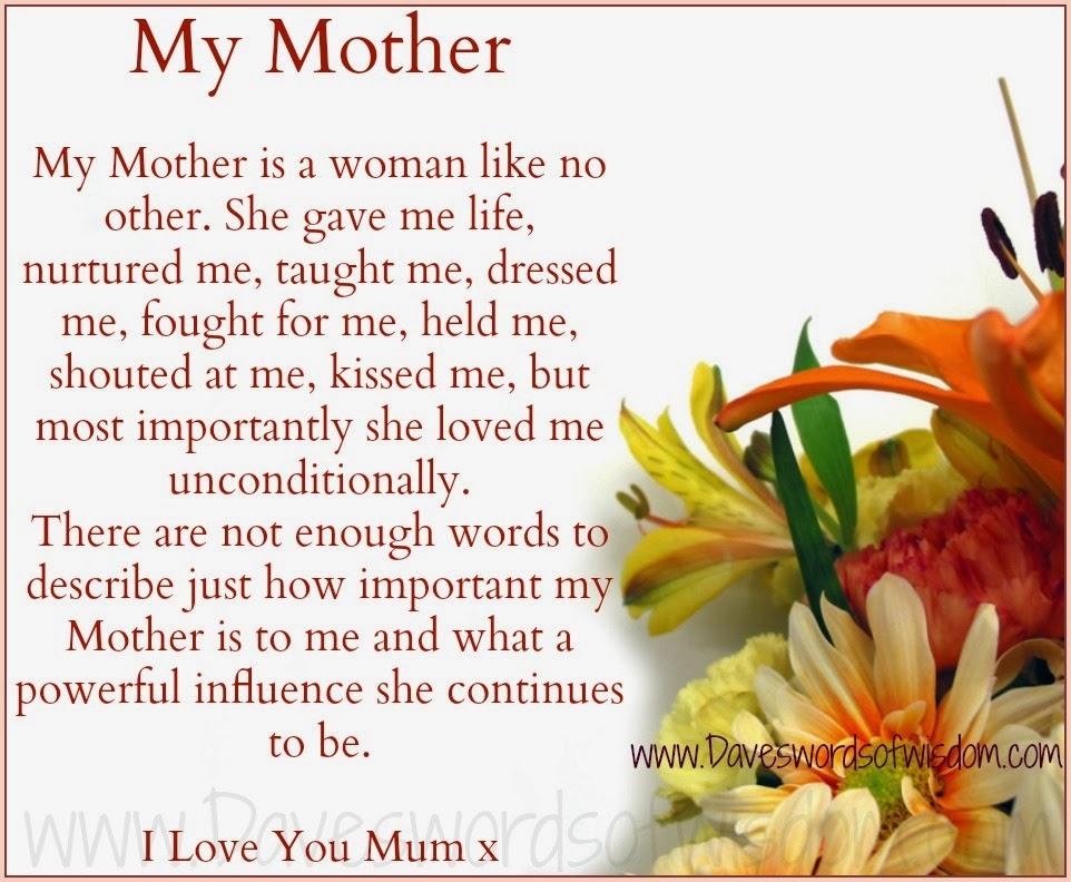 Mum I Love You Quotes