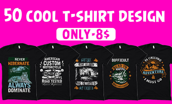 50 cool t shirt design vector collection