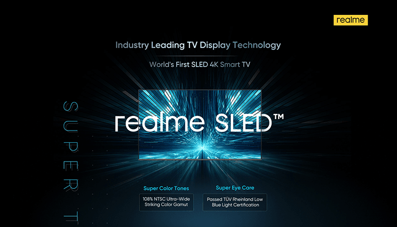 realme announces the first SLED 4K Smart TV in the world