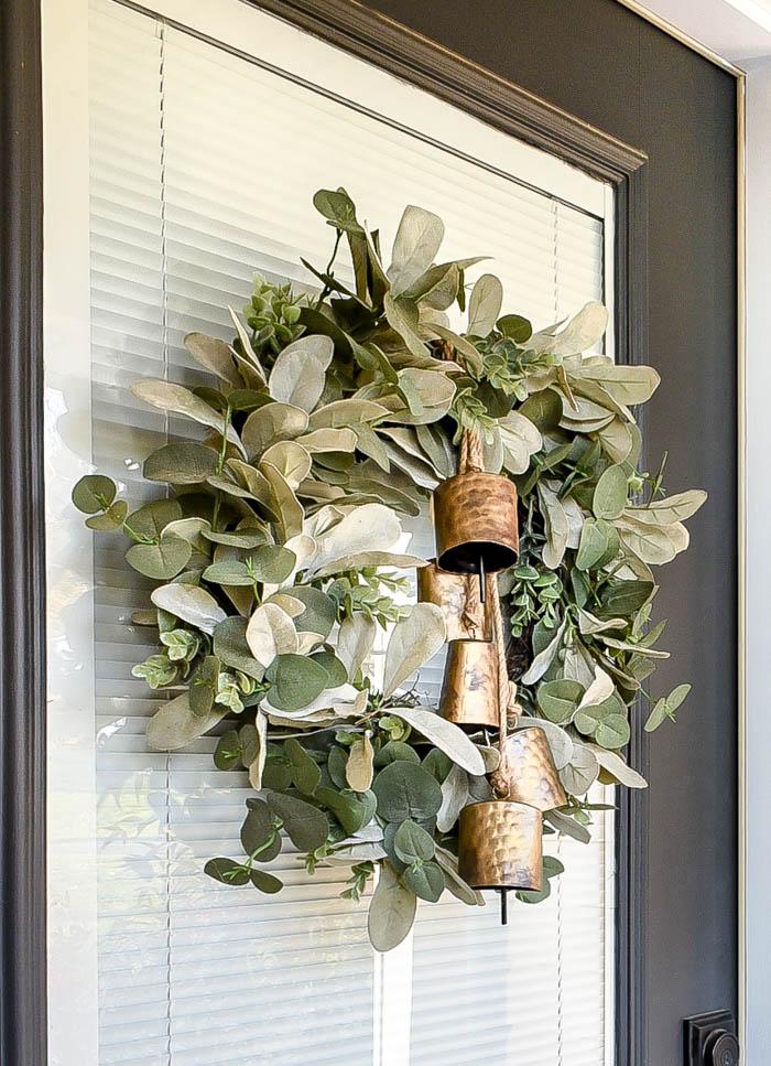 Winter wreath with hanging bells