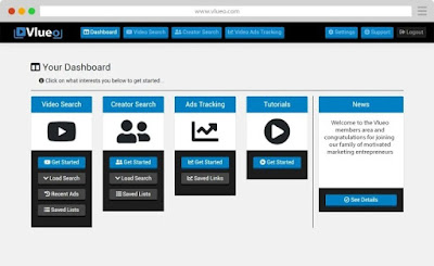Vlueo Reviews - Quicky find, create & track ads for YouTube videos