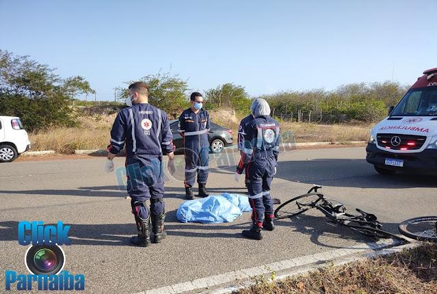 Gerson Linhares é atropelado na BR 343 em Parnaíba
