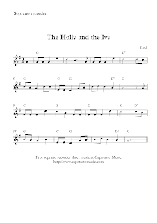 The Holly And The Ivy, soprano recorder