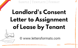 landlord consent to assignment of lease form