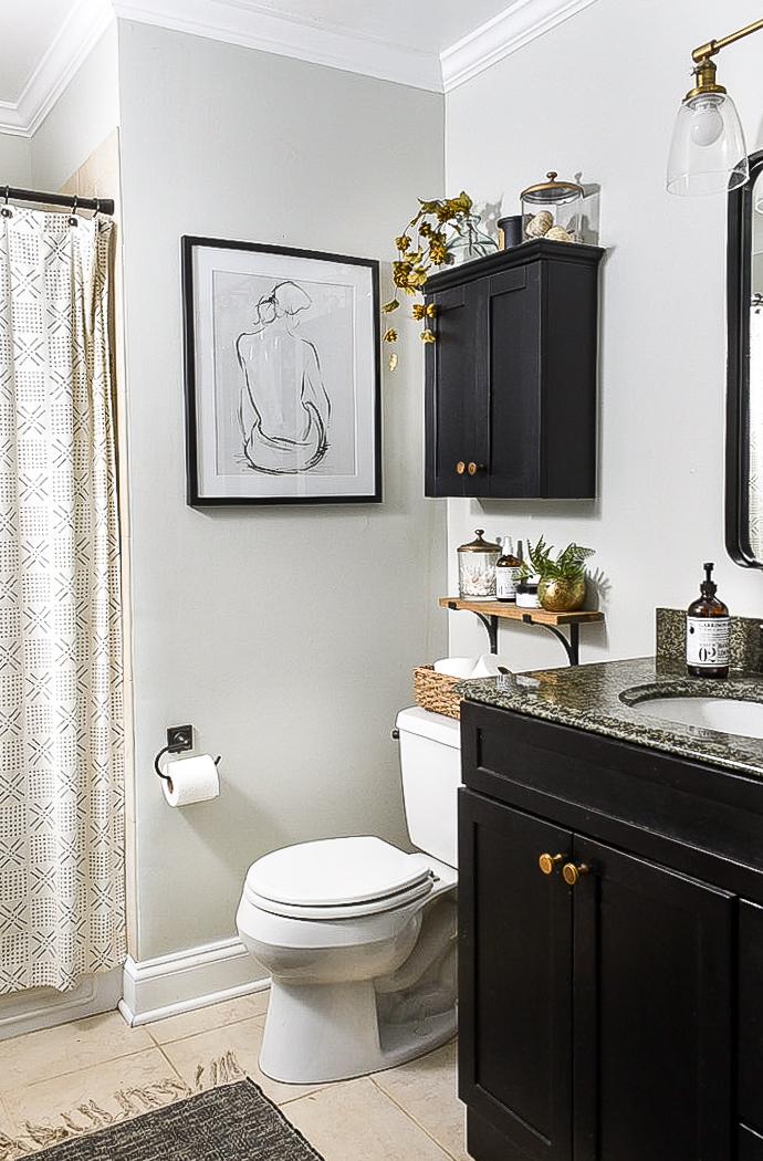 affordable fall bathroom decor