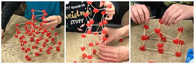 candy heart and toothpick building challenge, Valentine's Building challenge