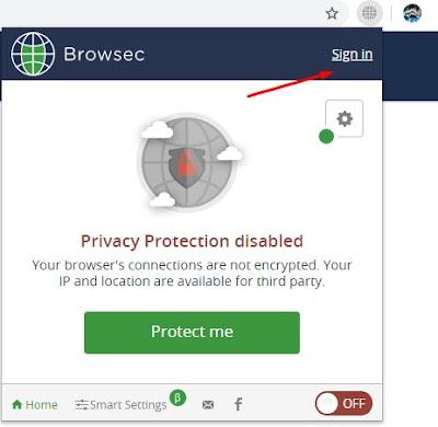 Cara Register Akun Browsec