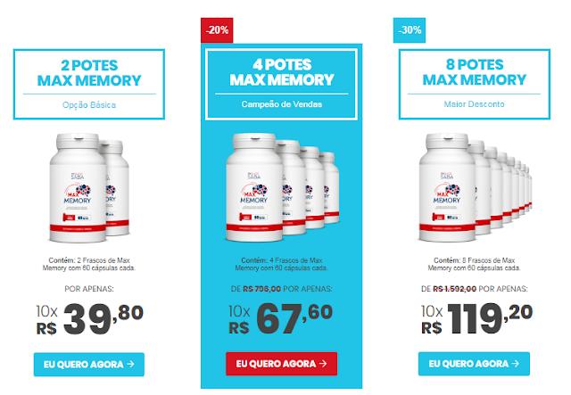 promoção max memory