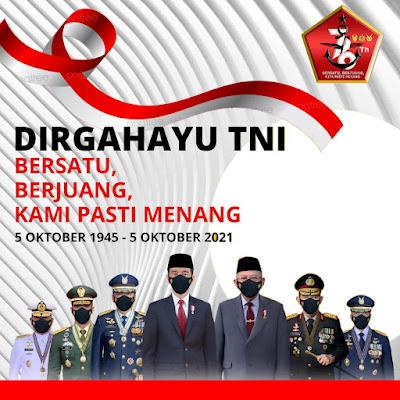 Download Link Bingkai dan pasang Twibbon Dirgahayu TNI Ke 76 5 Oktober 2021