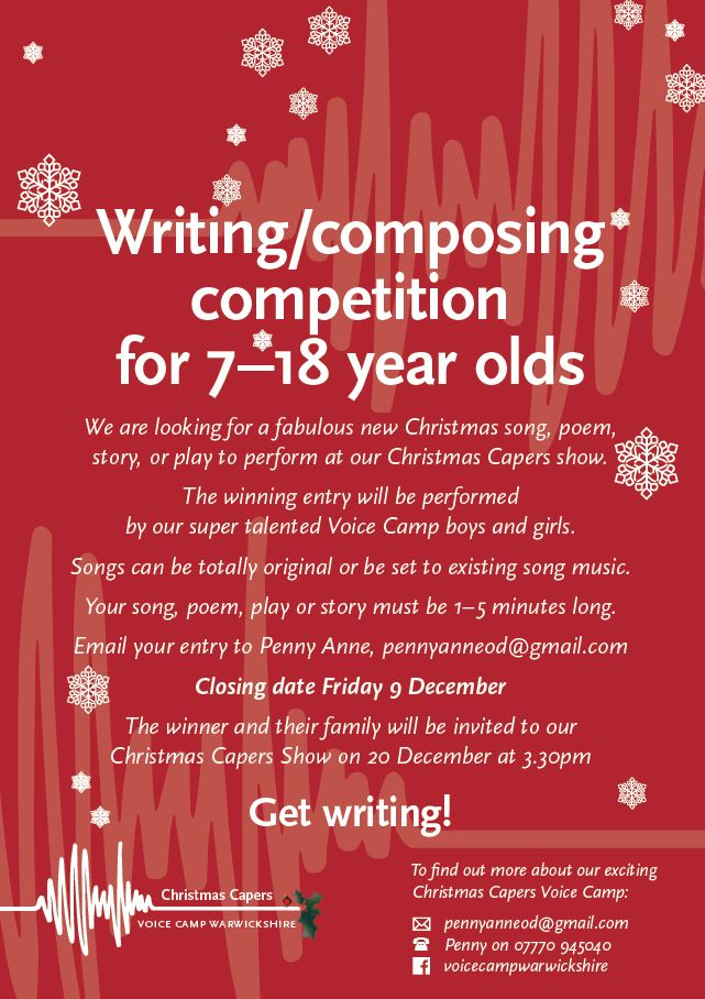 Christmas Writing Competition 7-18 year olds