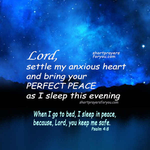 christian prayer for this night, psalm 4:8, prayers by mery bracho good night