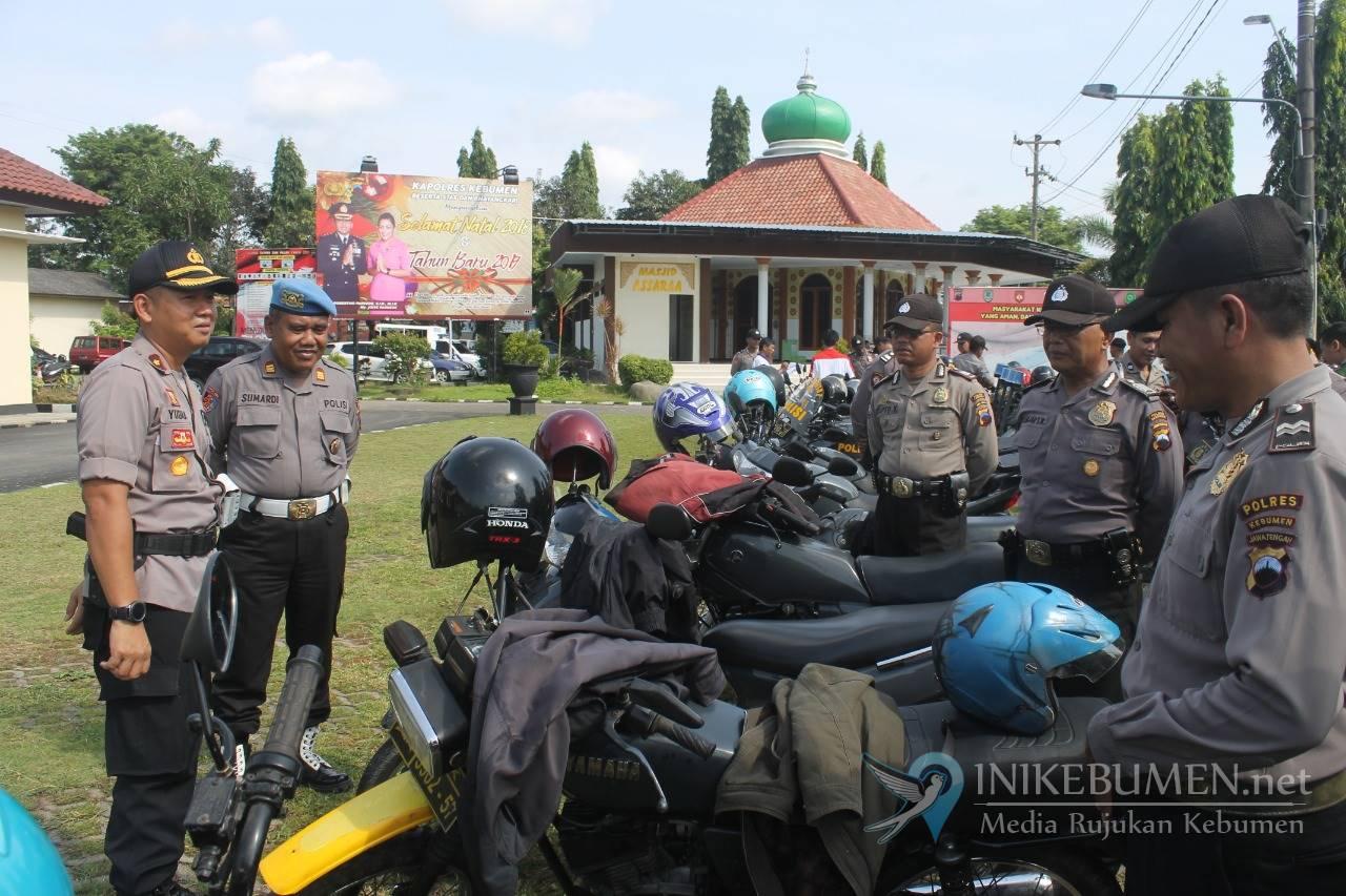 Jelang Pengamanan Pemilu, Polisi Kebumen Cek Stamina Kendaraan Operasional