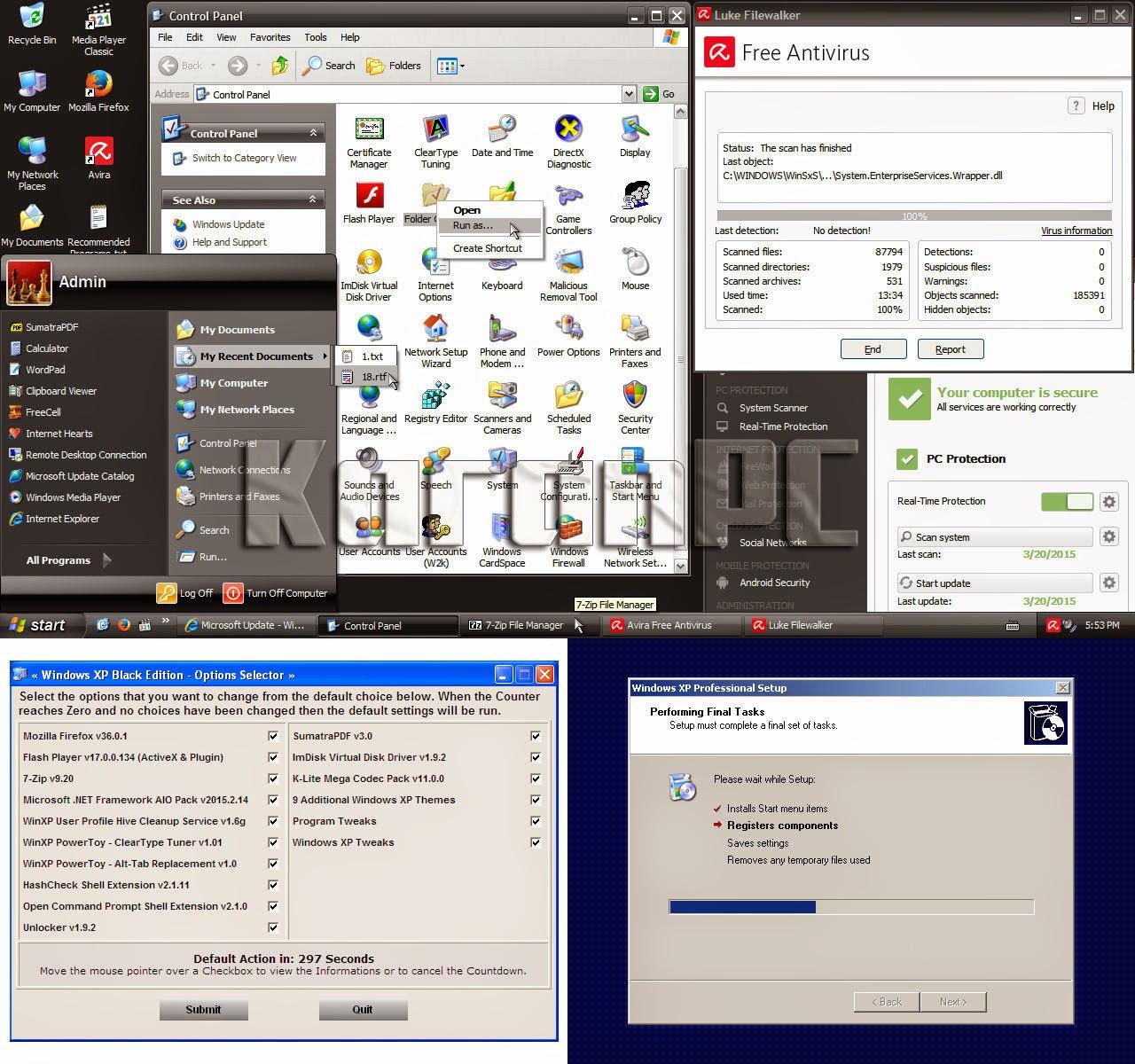 Windows XP Pro SP3 Black Edition ISO